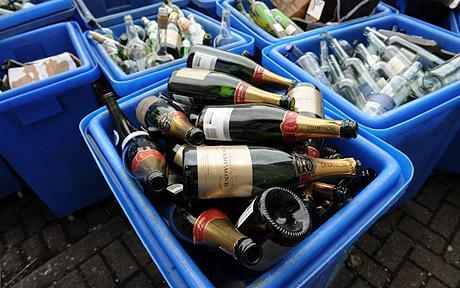 Идея приема пустых бутылок