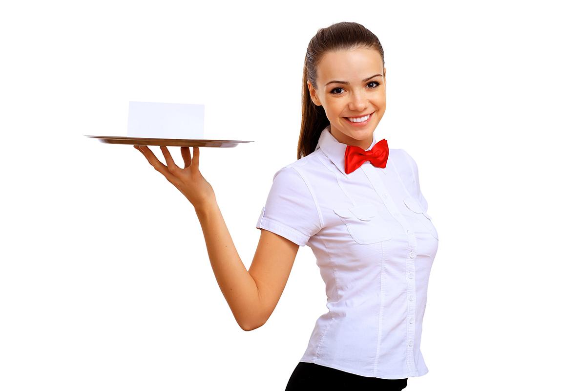 Персонал кафе - официант
