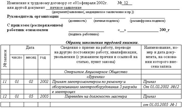 Образец приказа о переводе на другую должность — составляем правильно