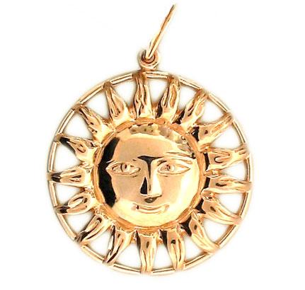 Медальон в виде солнца