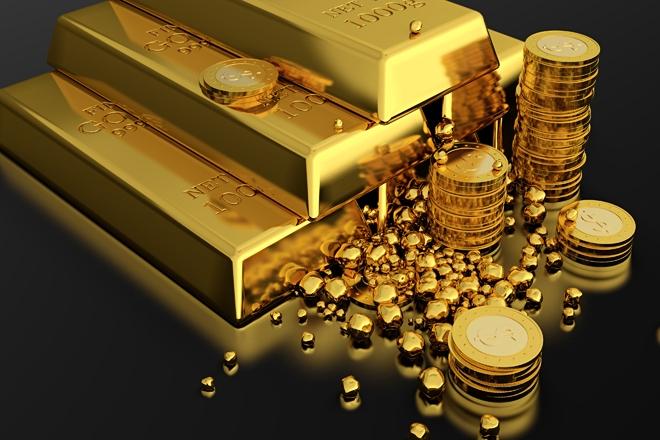 Монеты и слитки золота